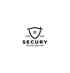 House or real estate or apartment shield secure vector