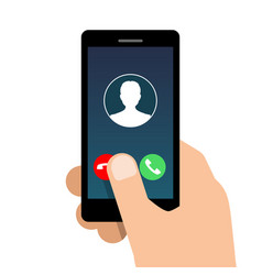 Incoming call on mobile phone vector