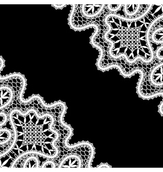 Lace corners on black vector