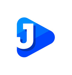 logo letter j triangle vector image