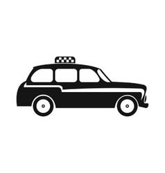 London black cab icon simple style vector