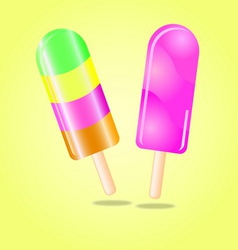 Multi flavour ice cream vector image