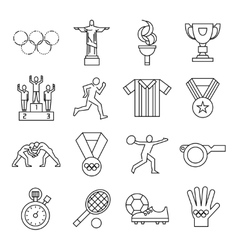 Olympic Games Line Icon Set vector image