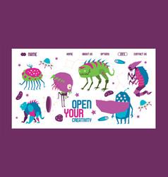 open your creativity banner web design banner vector image