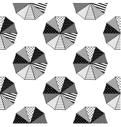 parasols umbrellas from above with geometric vector image