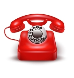 Realistic Red Telephone vector