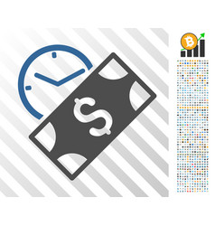 rent payment flat icon with bonus vector image