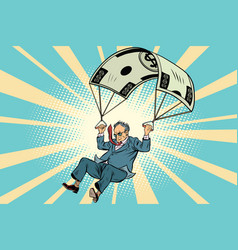 Retired golden parachute financial compensation vector