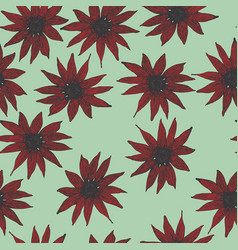 seamless pattern of beautiful uncool flowers vector image