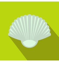 Seashell icon flat style vector image