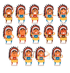 set indian flat icons vector image