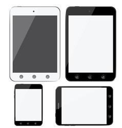 set of modern digital devices smartphones tablets vector image