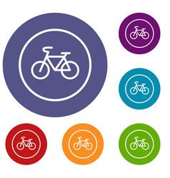 sign bike icons set vector image