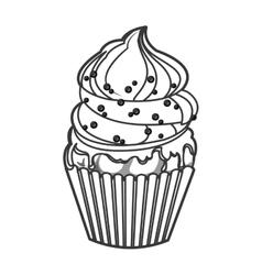 single cupcake icon vector image