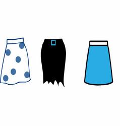 Skirt icon on white background vector