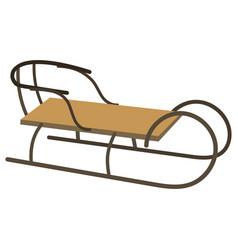sledge for children cartoon of vector image