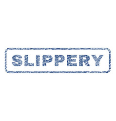 Slippery textile stamp vector