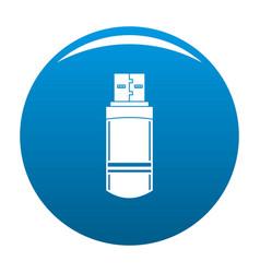small flash drive icon blue vector image