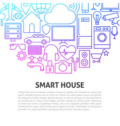 smart house line concept vector image