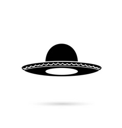 sombrero mexican hat colorful flat icon vector image