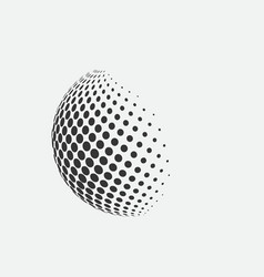 sphere logo abstract ball icon vector image