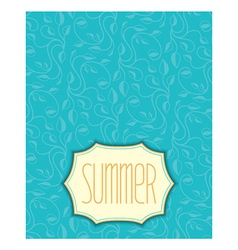 Summer floral pattern with frame vector image