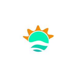 sun logo templates vector image