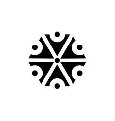 Symbol of the god perun slavic mythology the god vector