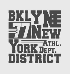 T-shirt print design brooklyn new york vector