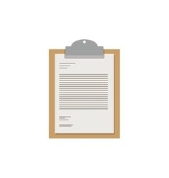 table notepad with sheets and text vector image
