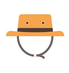Tourist Safari Hat Icon vector image