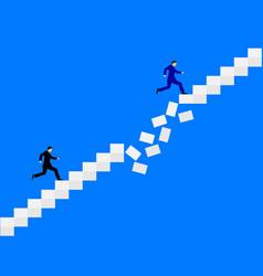 Two men running vector