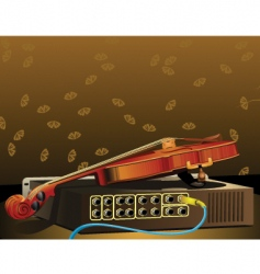 violin and amplifier vector image