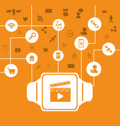 watch icon wearable technology design vector image