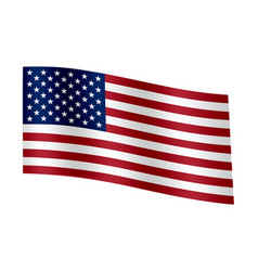waving flag of the united states of america vector image