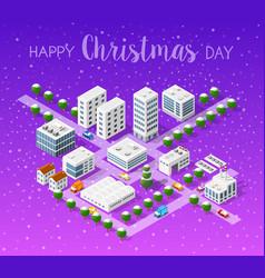 winter christmas landscape vector image