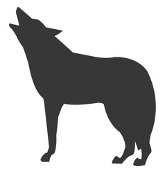 Wolf sideview silhouette icon vector