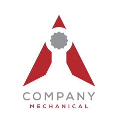Wrench Triangle Logo vector image