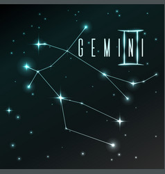 air symbol of gemini zodiac sign horoscope vector image