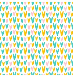 Cute abstract hand drawn hearts seamless pattern vector image vector image