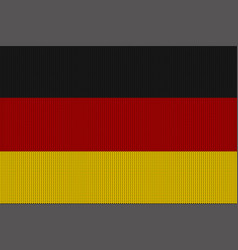 flag of germany on a knitted woolen texture vector image