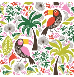 Seamless pattern with a exotic birds vector image vector image