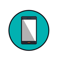 smartphone device isolated icon vector image