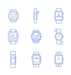 smartwatches - wearable vector image vector image