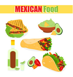 a set of mexican vector image