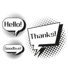 expression words on speech bubbles vector image vector image