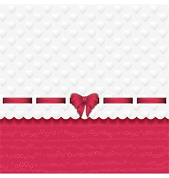 heart background with ribbon pink vector image vector image