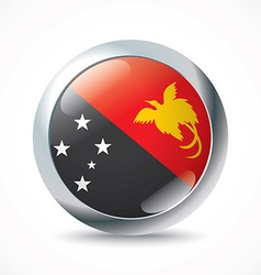 Papua New Guinea flag button vector image