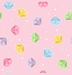 pastel diamond seamless pattern with pink vector image