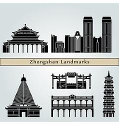 Zhongshan landmarks and monuments vector image vector image